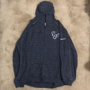 Men's Houston Texan's Reebok Zip Up Sweater